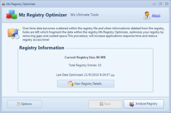 Mz Registry Optimizer full screenshot